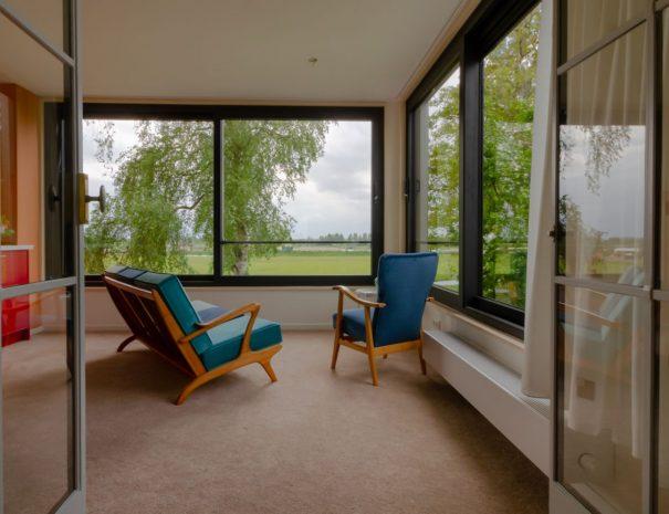 Zithoek met uitzicht amerongen suite
